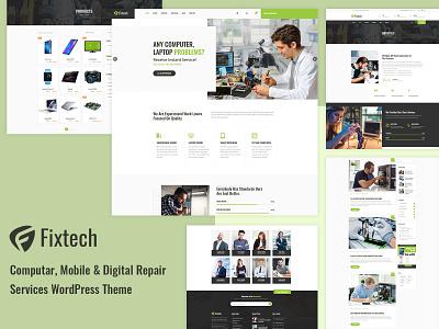 Fixtech - Computer & Mobile Repair Services WordPress Theme wordpress development work wordpress blog corporate responsive design woocommerce wordpress design wordpress theme technology