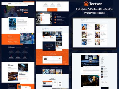 Tectxon - Industry & Factory WordPress Theme corporate wordpress development wordpress design business responsive design ecommerce design wordpress theme blog design ecommerce responsive industrial website industry