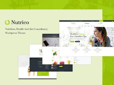 Nutrico WordPress Theme navigation wordpress development responsive website ux ecommerce design ecommerce responsive design woocommerce wordpress theme clinics medical care healthcare nutritional