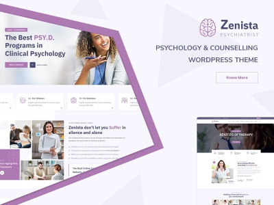 Zenista - Psychology & Counseling WordPress Theme clinical website theme corporate wordpress development responsive wordpress theme ecommerce design responsive design