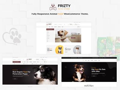 Frizty - Pet Shop WooCommerce Theme wordpress design ecommerce wordpress development responsive wordpress theme woocommerce ecommerce design responsive design