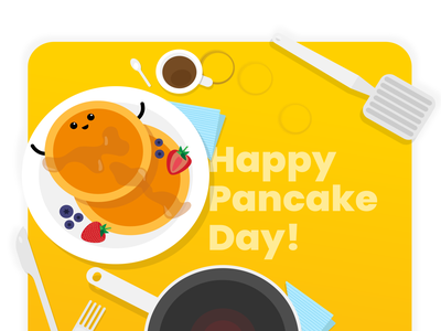 HAPPY PANCAKE DAY! vector cute pancake illustration