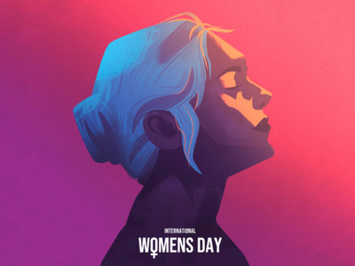Women's day abstract vector painting watercolour illustration womens day woman women