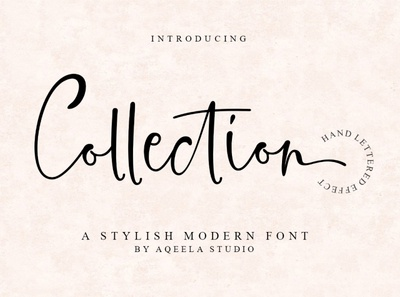 Collection type fun logo website love font elegant lettering script typography design branding