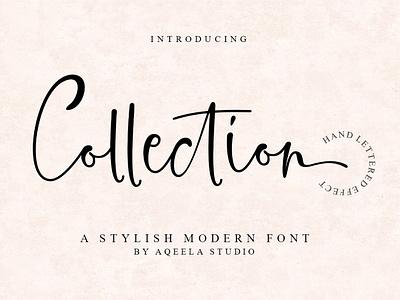 Collection type fun logo website love font elegant lettering script typography design branding