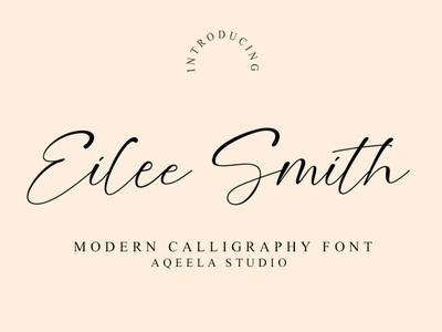 Eilee Smith type love font branding website logo design elegant lettering script typography