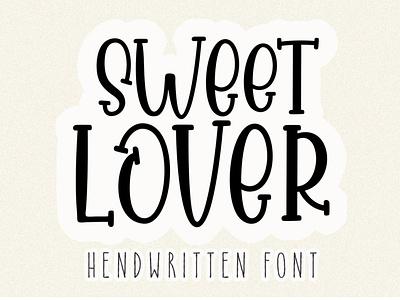 Sweet Lover animation fun illustration logo branding love font design lettering elegant script