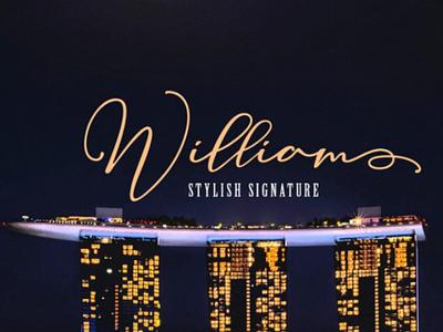 William investasi fashion card branding signature