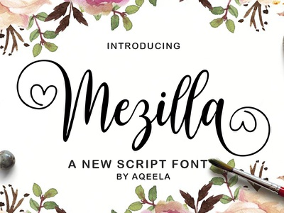 Mezilla typography elegant fun love font lettering design logo branding script wedding elegant font