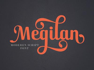 Megilan fun web script type lettering elegant design typography logo branding