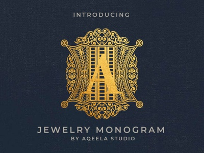 Jewelry Monogram type fun illustration love font elegant lettering typography logo design branding