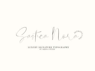 Satica Nora fun love font script type website elegant logo typography design branding