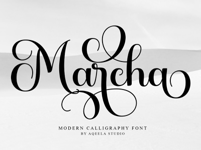 Marcha fun script website elegant lettering type typography logo design branding