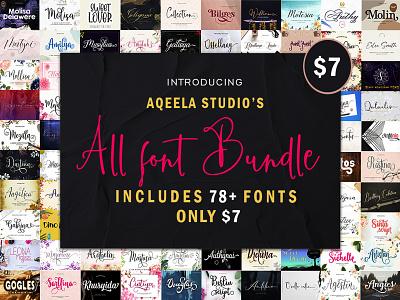 78 Elegant Typefaces from Aqeela Studio fun script design love font elegant lettering type typography logo branding