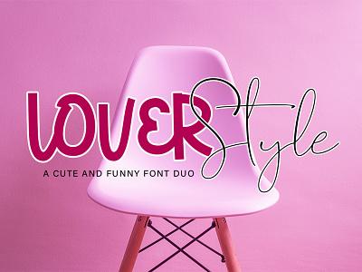 Lover Style graphic design fun display henwrittten cute type lettering typography script design logo branding