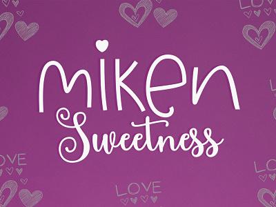 Miken Sweetness invitations cute lettering type typography script logo design branding
