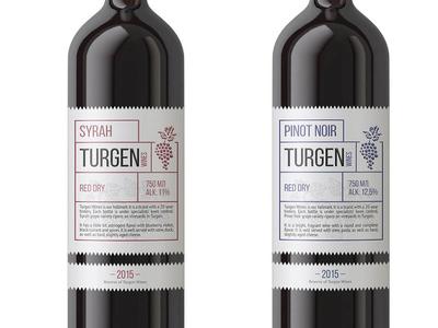 Turgen Wines - Brand Identity & Label