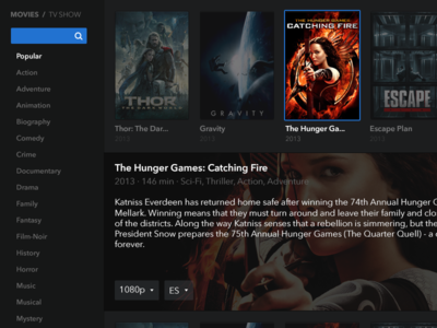 Popcorn Time redesign