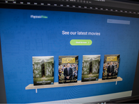Landscreen for a movie site