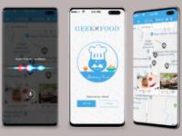 Geek Food UI Design.
