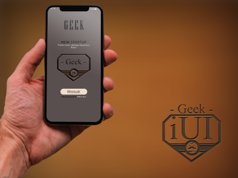 Geek Apps photoshop mock up android iphone