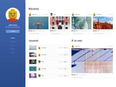 DailyUI #6 - Profile social facebook profile dailyui
