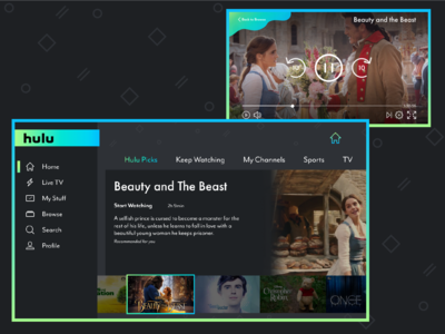 Hulu Redesign for the Nintendo Switch