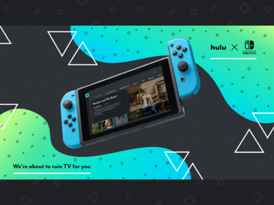Hulu Redesign - Nintendo Switch Poster