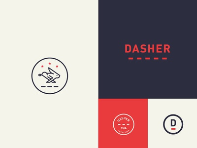Dasher minimal simple logo identity tennessee chattanooga atl atlanta rabbit