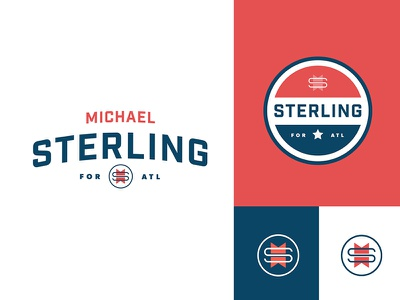 Sterling for ATL georgia logo identity mayor political politics red white and blue campaign atl atlanta
