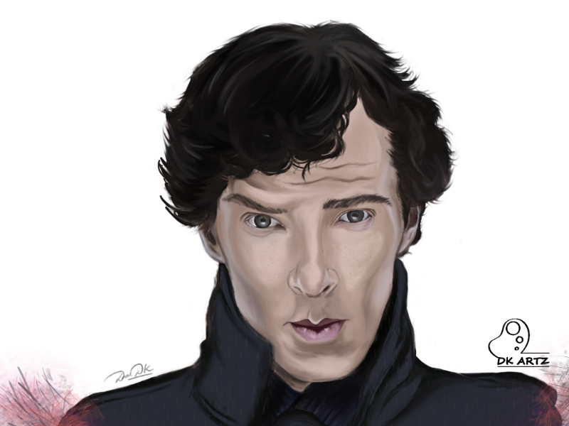 Sherlock Holmes sherlock sketchbook drawings portrait digital art