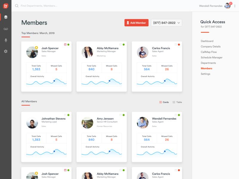 App - Members Page navigation bar navigation navbar dashboard design dashboard ui dashboad avatar member membership card membership web app page members