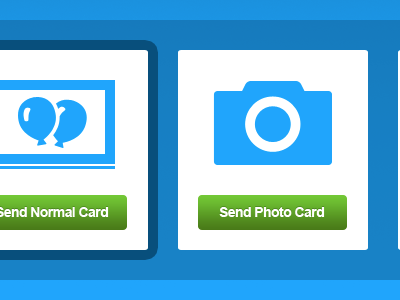 Upload Type upload ui application cards birthday calendar elements green buttons