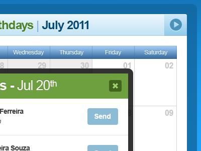Pick a Date & User