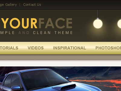 In Your Face Theme theme css xhtml html user experience interface