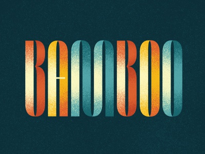 Bamboo Type Exploration lettering artist type design type art type lettering typography
