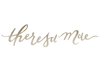 Theresa Mae Photography Logo logo watercolor typography hand lettering