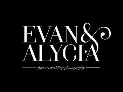 Evan & Alycia Photography Logo ampersand clean typography logo
