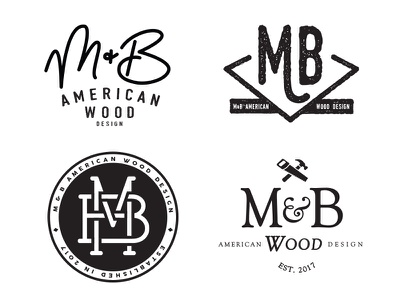 Rejected Logo Concepts vintage woodworking logo