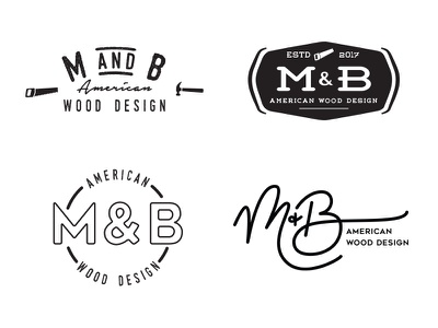Logo Concept Rejects vintage woodworking logo