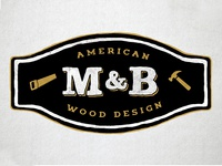 M & B Wood Design Logo