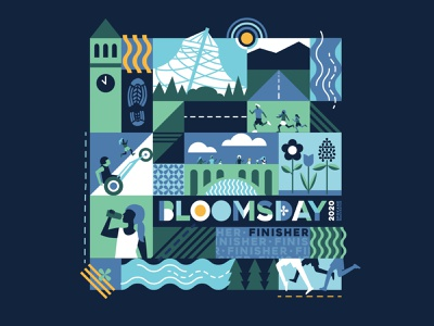 Bloomsday T-Shirt Entry race running mid century modern mid century blooms race shirt shirt bloomsday spokane