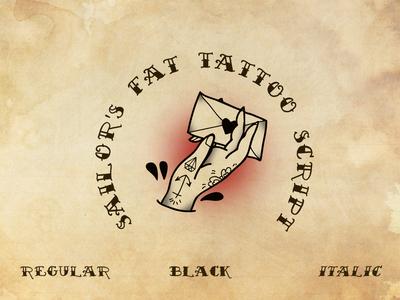 Sailors Fat Tattoo Script Font Family
