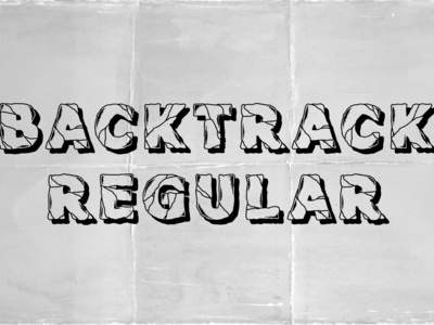 Backtrack Regular Font
