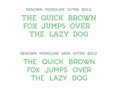 Renown Monoline Extra Bold