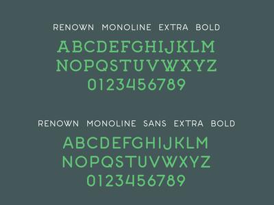 Renown Monoline Extra Bold - Alphabets