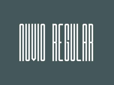 Nuvio Regular ultra condensed sans serif font sans serif brush calligraphy typography logo illustration design branding typefaces typeface designer type design fonts font designer font design font