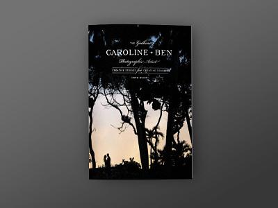 Caroline + Ben Photography Booklet branding book design braizen photography look book magazine