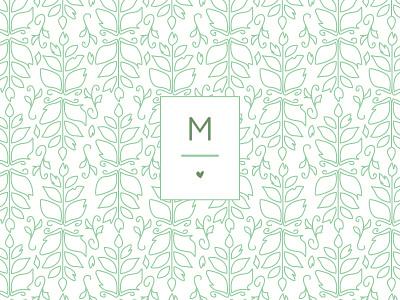 Michele Hart Photography Concept 2 braizen branding photography logo design pattern floral m heart