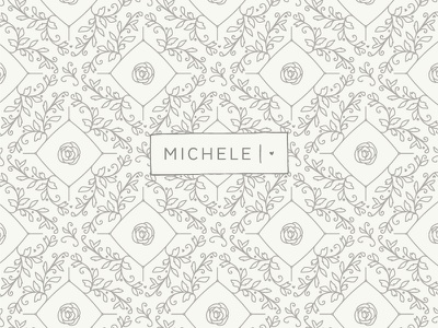 Michele Hart Photography Pattern braizen branding photography logo design pattern floral m heart